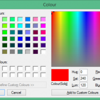 Sparkle colour picker