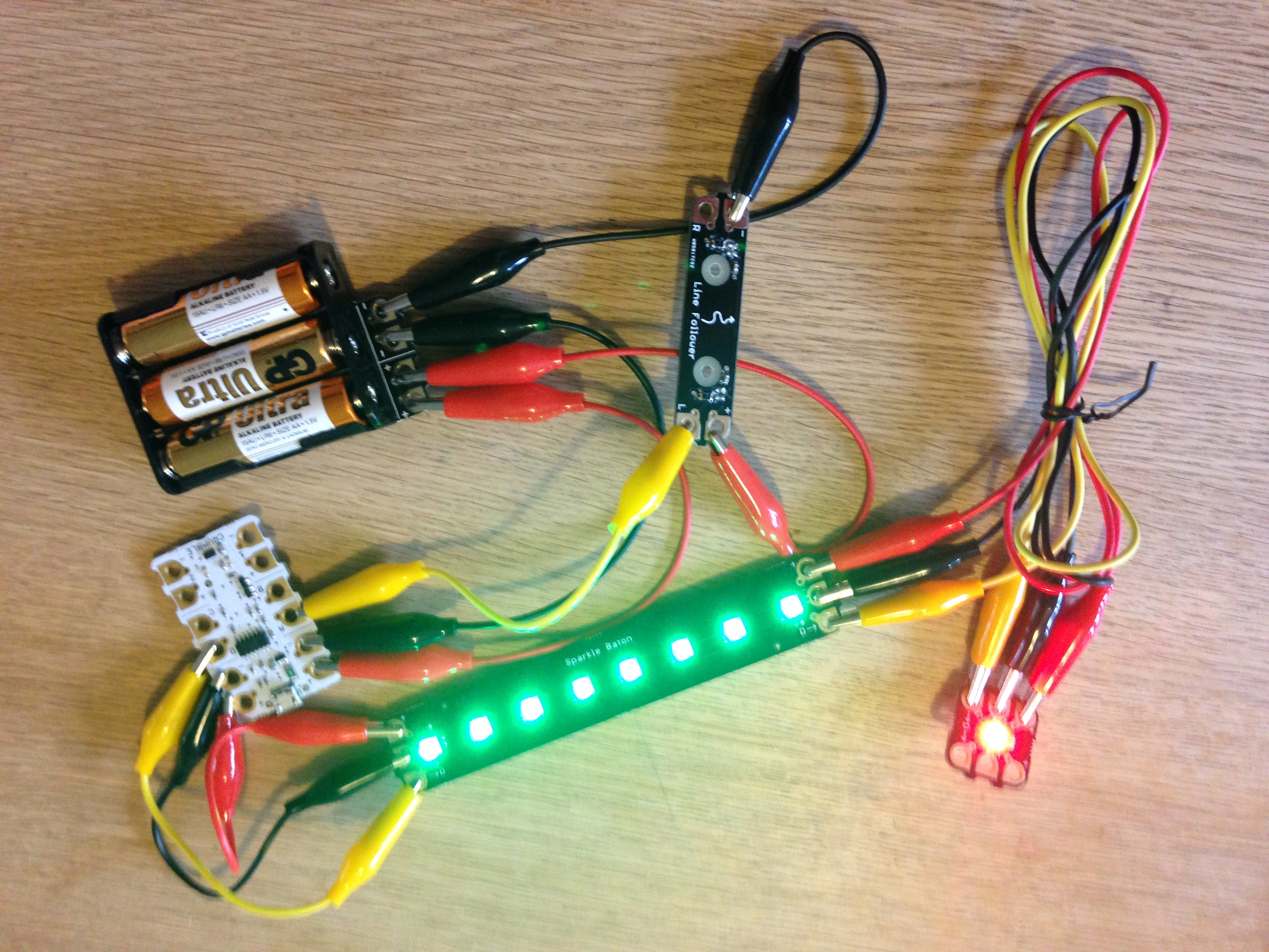 Sparkles Redfern Electronics Of The 20 Step Circuit Being Used To Control A Set Traffic Lights Sparkle Baton Was Give Spooky Green Glow Croc Leads Connect And D Pads On Right Hand Side Crumble Their