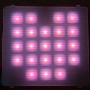 Sparkle matrix displaying a pink heart.